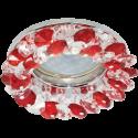 Ecola CD4141 MR16 GU5.3 св-к встр.круглый с хрусталиками Прозрачный и Рубин/Хром 50x90 FR1617EFY
