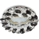 Ecola CD4141 MR16 GU5.3 св-к встр.круглый с хрусталиками Прозрачный и Черный/Хром 50x90 FB1618EFY