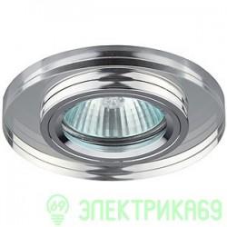 ЭРА DK7 CH/WH св-к встр. 50W MR16 GU5.3 стекло круглое d95 зеркальн./хром