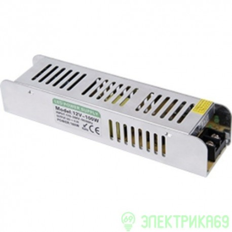 Ecola Блок питания для св/д лент 12V 100W IP20 187x47x37 (интерьерный) B2N100ESB