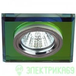 ЭРА DK8 CH/MIX св-к встр. 5MR16,12V, 50W декор стекло квадрат хром/мультиколор