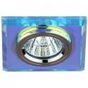 ЭРА DK8 CH/PR св-к встр. 5MR16,12V, 50W декор стекло квадрат хром/перламутр