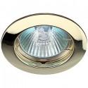 ЭРА KL1 GD св-к встр. 50W MR16 GU5.3 круг d75, золото