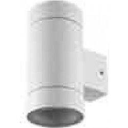 Ecola 8013A св-к прозр.цилиндр металл.белый матовый IP65 2*GX53 205x140x90 FW53C2ECH