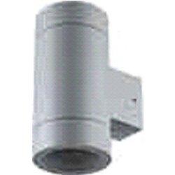 Ecola 8013A св-к прозр.цилиндр металл.серый матовый IP65 2*GX53 205x140x90 FG53C2ECH