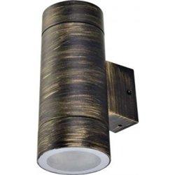 Ecola 8013A св-к прозр.цилиндр металл.черн.бронза IP65 2*GX53 205х140х90 FN53C2ECH
