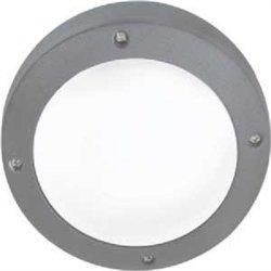 Ecola B4139S св-к матов.Круг серый алюм.1*GX53 IP65 145х145х65 FS53SSECS