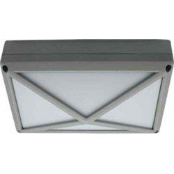 Ecola B4157S св-к матов.прямоуг.пирамида серый алюм.2*GX53 IP65 215х135х65 FS53PSECS