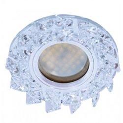 Ecola DL1661 MR16 GU5.3 св-к  Стекло Круг со стразами зеркало/Хром 42x95 FE16RNECB