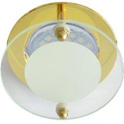 Ecola DL201 MR16 GU5.3 св-к Круг со стеклом Прозр. Матовый/Золото 45x80 FG16ACECB