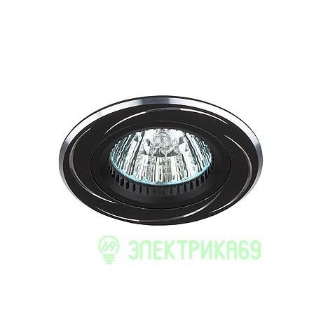 ЭРА KL34 AL/BK cв-к встр алюминиевый MR16,12V, 50W черный/хром
