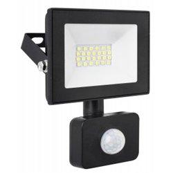 Ultraflash прожектор св/д с датч/движ. LFL-2002S C02 20W(1400lm) 6500K 6K черный 100x80x24