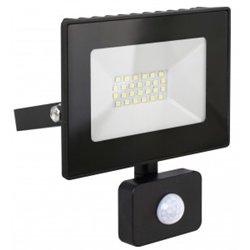 Ultraflash прожектор св/д с датч/движ. LFL-3002S C02 30W(2100lm) 6500K 6K черный 140x110x24