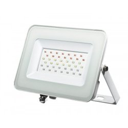 Jazzway прожектор св/д RGB с пультом 30W 235x187x28 белый IP65 PFL-30W .5012103