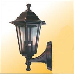 Camelion 4101 св-к уличный/садовый 'бра вверх' черный 60W E27 220V алюминий/стекло IP43