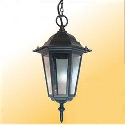 Camelion 4105 св-к уличный/садовый 'подвесной' белый 60W E27 220V алюминий/стекло IP43