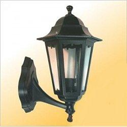 Camelion 4301 св-к уличный/садовый 'бра вверх' черный 100W E27 220V алюминий/стекло IP43