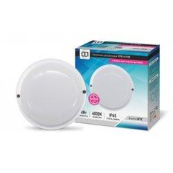 ASD/LLT св-к св/д ЖКХ СПП-A2305 12W(960lm) 4K 170х51мм с оптико-акуст. датчиком(звук) круг IP65 6283