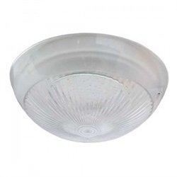Ecola св-к накладной Круг 1xGX70 Сириус пластик прозр. IP65 белый 220x100 Light TP70T1ECR