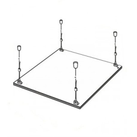 ASD/LLT комплект подвесов на тросаx (длина 1м) для панели св/д LP (цена за компл. 4шт.)