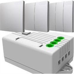 R+C кинетик выкл. кинетический беспроводной ОУ 1 кл. бел. 600W ES2154 IP67+ контроллер ERC302 IP20