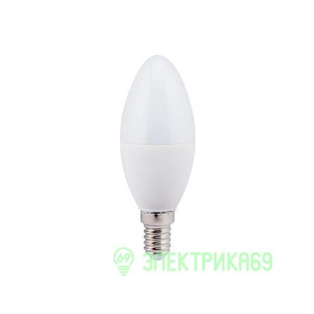 Ecola свеча E14 7W 4000 4K 110x37 пласт./алюм. C4LV70ELC
