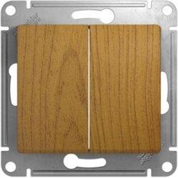 Schneider GLOSSA мех. выкл. СУ 2 кл. темный дуб (пласт. осн.) GSL000551