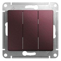Schneider GLOSSA мех. выкл. СУ 3 кл. баклажановый (пласт. осн.) GSL001131