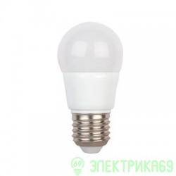 Ecola шар G45 E27 5.4W 2700 2K 89x45 пласт./алюм. (5W) K7GW54ELC