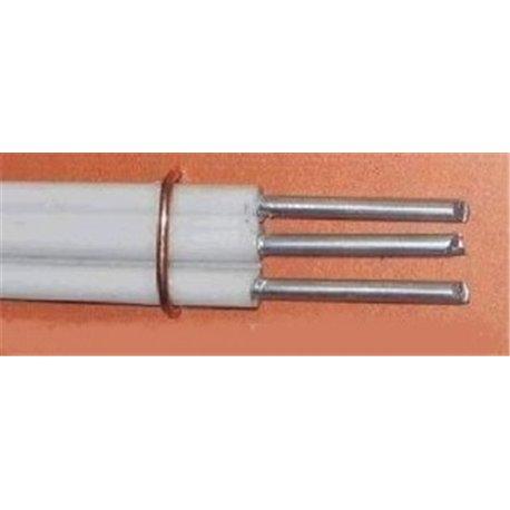 Провод АППВ/ПАВ 3х2,5 (ГОСТ) (БРЭКС, г. Брянск) установочный, белый, алюмин., плоский, изоляция ПВХ