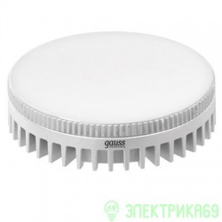 Gauss GX53 6W(490lm) 4200 4K 29x75 пластик/алюм. белый радиатор LD108008206