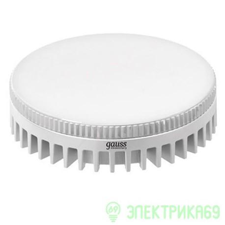 Gauss GX53 8W(680lm) 2700 2K 29x75 пластик/алюм. белый радиатор LD108008108