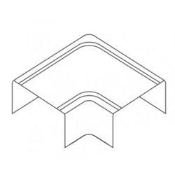 T-plast Угол плоский L 16х16 белый (уп 4шт, цена за ШТУКУ!!!) 50-15-003-002