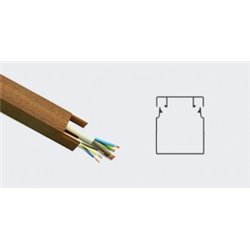 T-plast кабель-канал ПВХ 12х12 с текстурой дерева темн.орех 3D 2м (цена за 1м) 50-01-003-0001