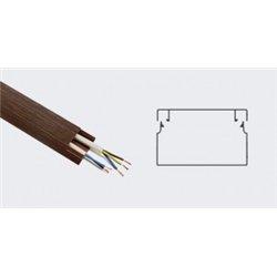 T-plast кабель-канал ПВХ 20х10 с текстурой дерева венге 3D 2м (цена за 1м) 50-01-011-0004