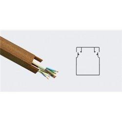 T-plast кабель-канал ПВХ 25х25 с текстурой дерева темн.орех 3D 2м (цена за 1м) 50-01-003-0006