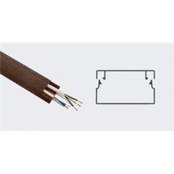 T-plast кабель-канал ПВХ 40х16 с текстурой дерева венге 3D 2м (цена за 1м) 50-01-011-0008