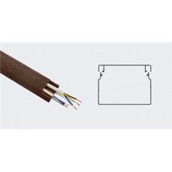 T-plast кабель-канал ПВХ 40х25 с текстурой дерева венге 3D 2м (цена за 1м) 50-01-011-0009