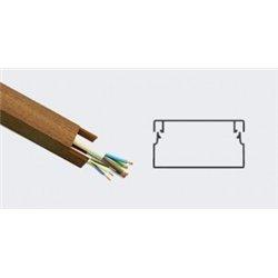 T-plast кабель-канал ПВХ 60х40 с текстурой дерева темн.орех 3D 2м (цена за 1м) 50-01-003-0011