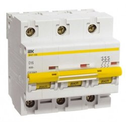 IEK автоматический выкл. ВА 47-100 3P 80А 10 кА  х-ка С MVA40-3-080-C