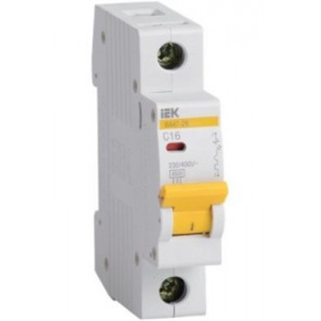 IEK автоматический выкл. ВА47-29 1P  6А 4,5кА х-ка С MVA20-1-006-C