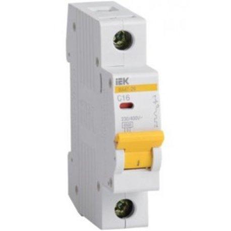 IEK автоматический выкл. ВА47-29 1P 16А 4,5кА х-ка С MVA20-1-016-C