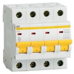 IEK автоматический выкл. ВА47-29 4P 16А 4,5кА х-ка С MVA20-4-016-C