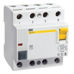 IEK ВД1-63 4P устройство защитного отключения УЗО 25А 30мА MDV10-4-025-030