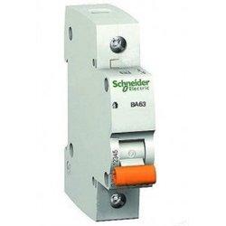 Schneider Domovoy автоматический выкл. ВА63 1P 25А 4,5кА х-ка C 11205