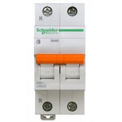 Schneider Domovoy автоматический выкл. ВА63 1P+N 25А 4,5кА х-ка C 11215
