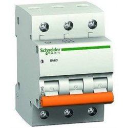 Schneider Domovoy автоматический выкл. ВА63 3P 63А 4,5кА х-ка C 11229