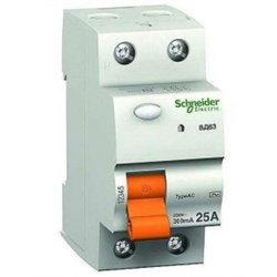 Schneider Domovoy ВД63 2P устройство защитного отключения УЗО 25А 30мА АС 11450