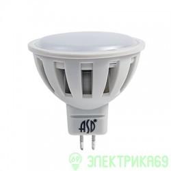 ASD MR16 GU5.3 220V 7.5W(600lm) 3000К 2K 51x50 пластик/алюм