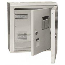 IEK щит учетный ЩУ 1/1-1 74 У1 (310х300х150) метал. с окошк. 2 двери (1ф, 6мод.) IP54 MKM51-N-04-54